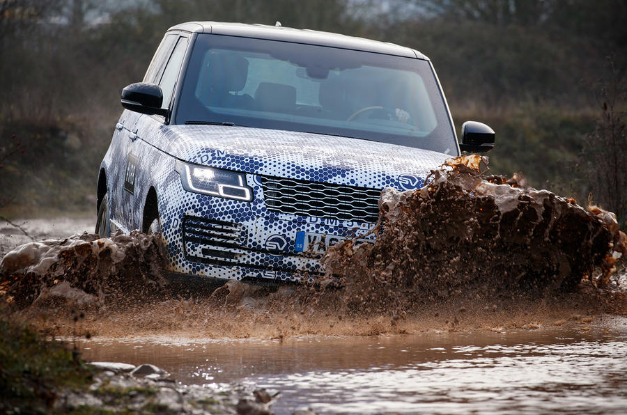 Land Rover Range Rover Sentinel official press images - wading through water