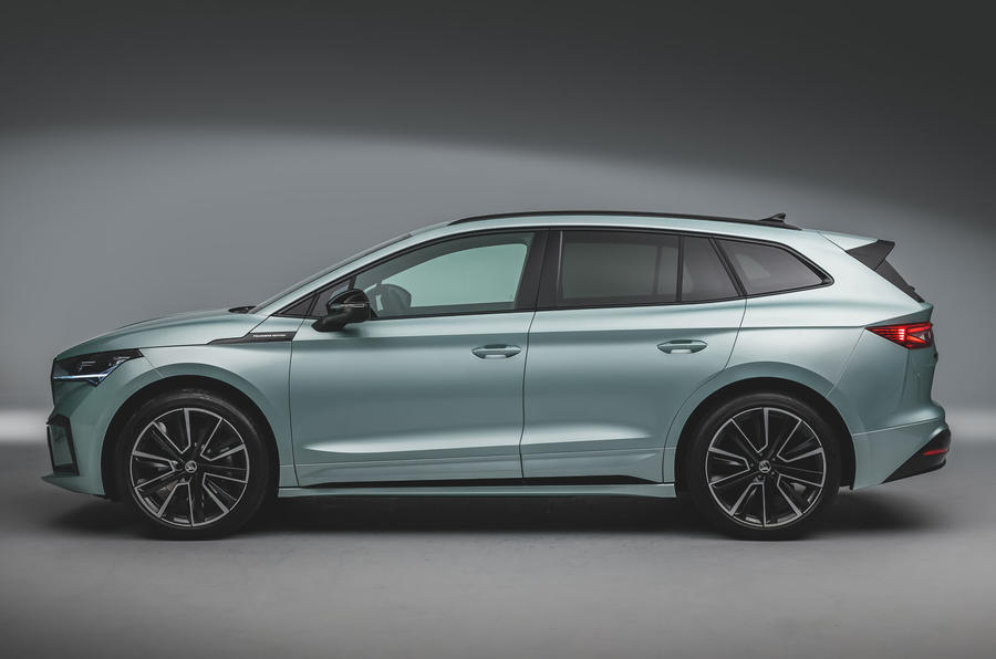 Skoda Enyaq official reveal images - studio side