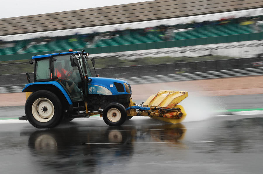 New Tarmac at Silverstone for 2019 - surface water