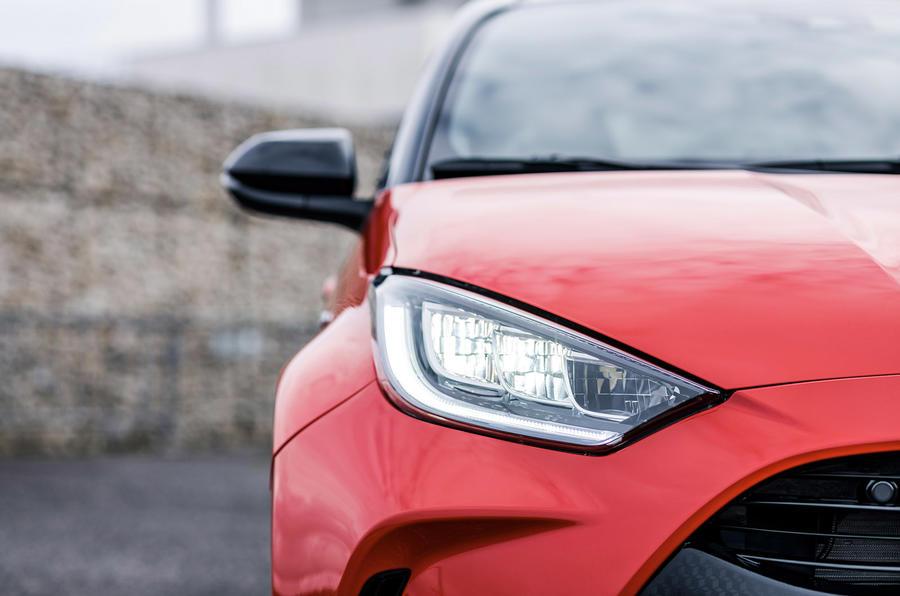 2020 Toyota Yaris prototype drive - headlights