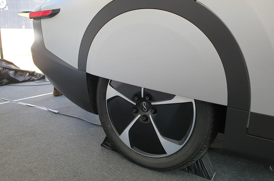 Lightyear One at Goodwood 2019 - wheel covers