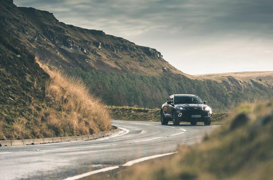 Aston Martin DBX 2020 prototype drive - Wales