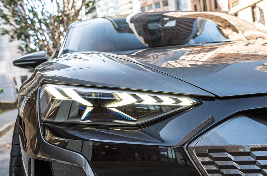 Audi E-tron GT concept 2020 prototype first drive review - headlights