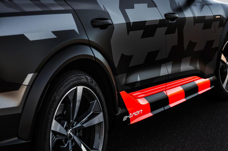 Audi E-tron S Sportback prototype drive - camo
