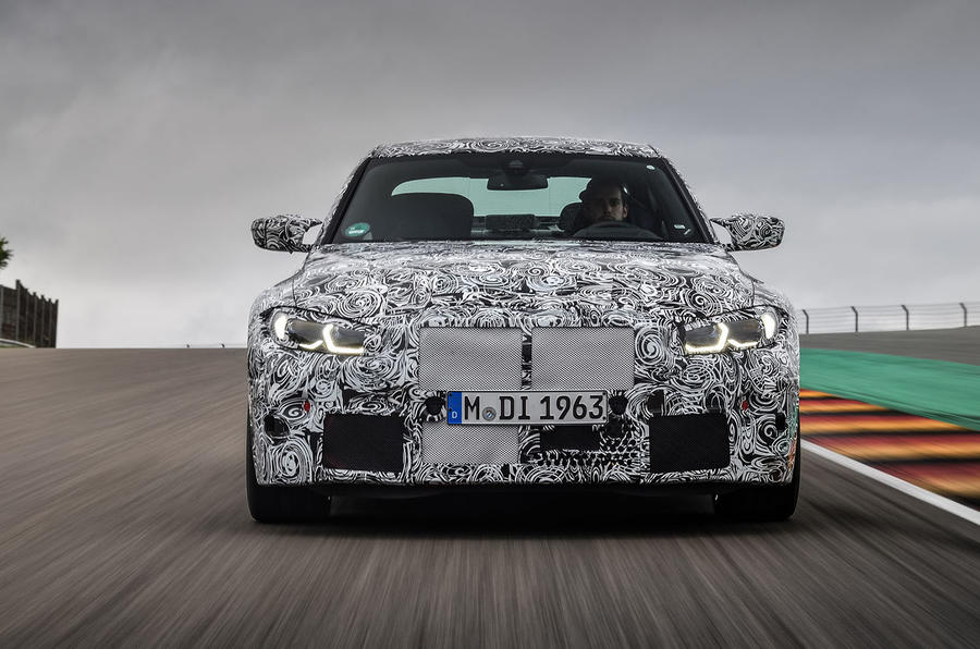 2020 BMW M3 prototype first drive - nose