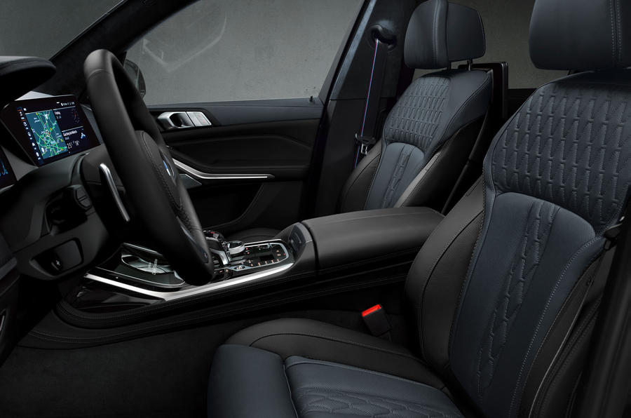 BMW X7 Dark Shadow Edition 2020 official images - cabin