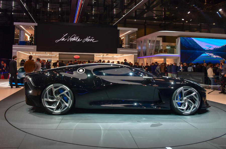 Bugatti La Voiture Noir reveal - side