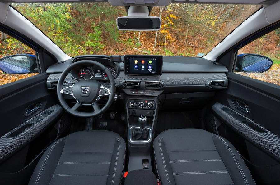 Dacia Sandero 2021 UK official images - interior