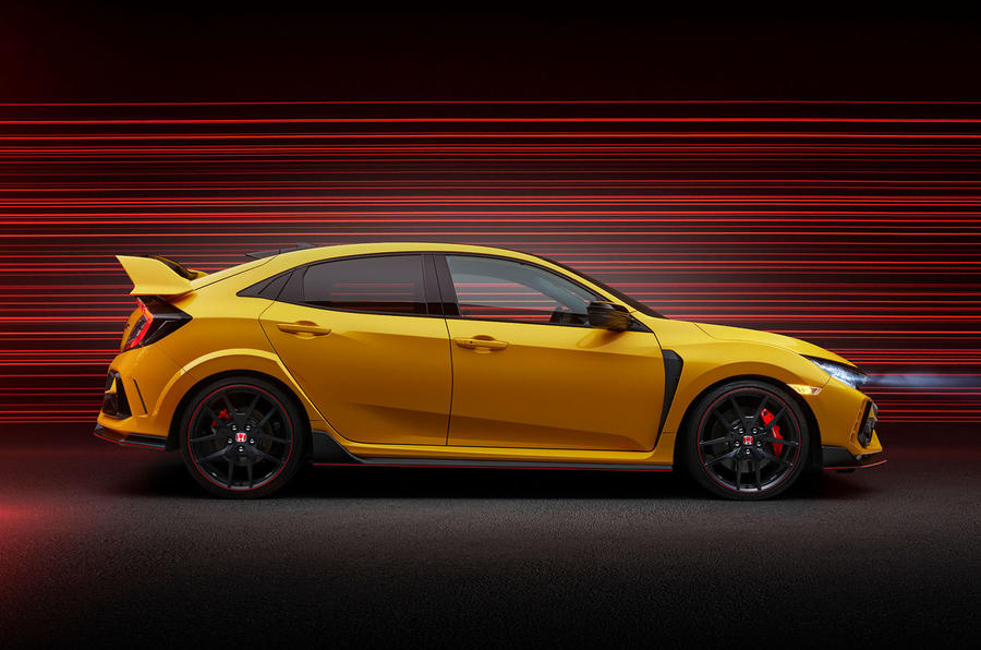 Honda Civic Type R limited edition 2020 official press photos - side