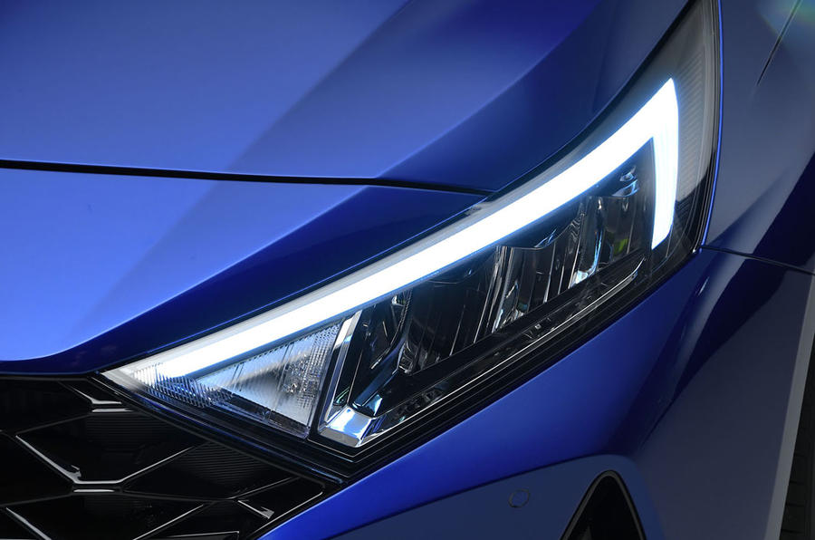 Hyundai i20 2020 studio images - headlights