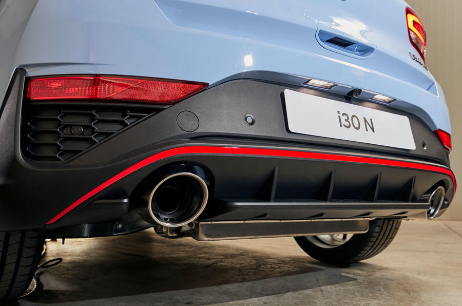Hyundai i30 N 2020 facelift official images - exhausts