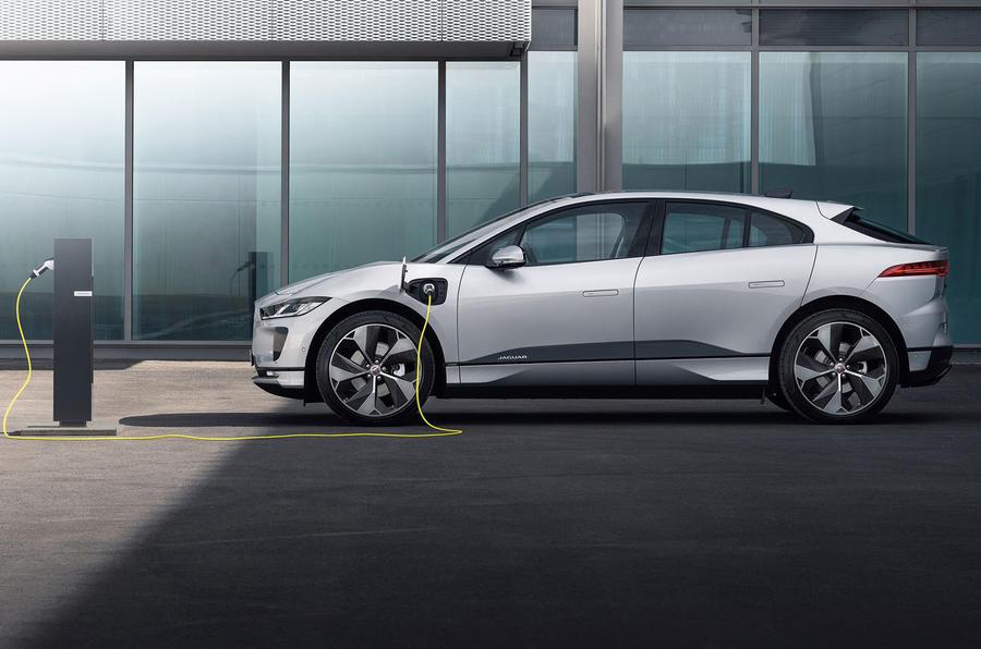 Jaguar I-Pace 2021 facelift official images - tracking rear