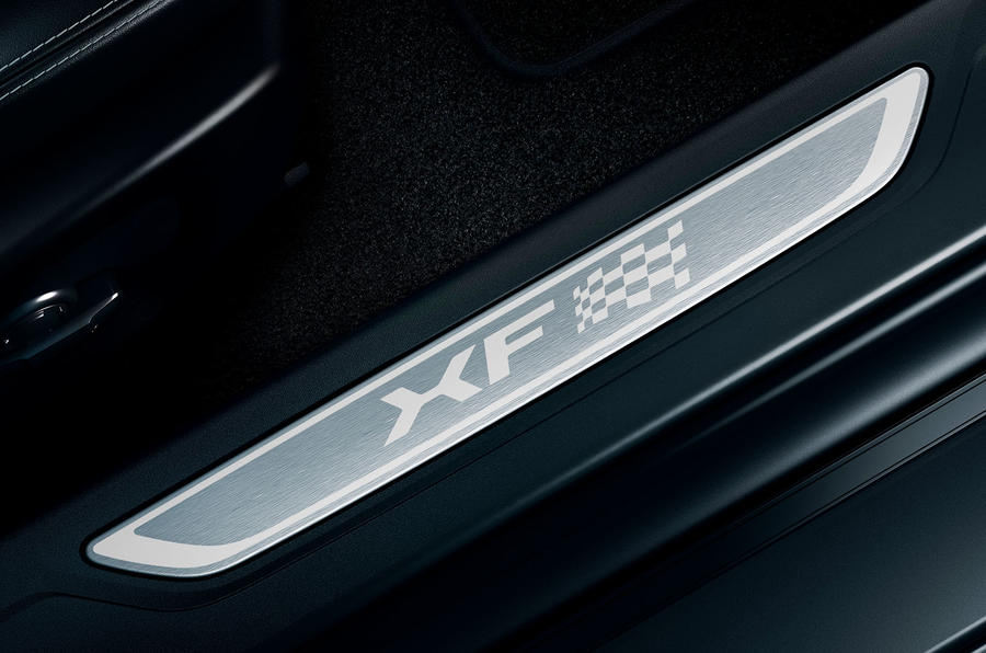 Jaguar XF Chequered Flag Edition kick plates