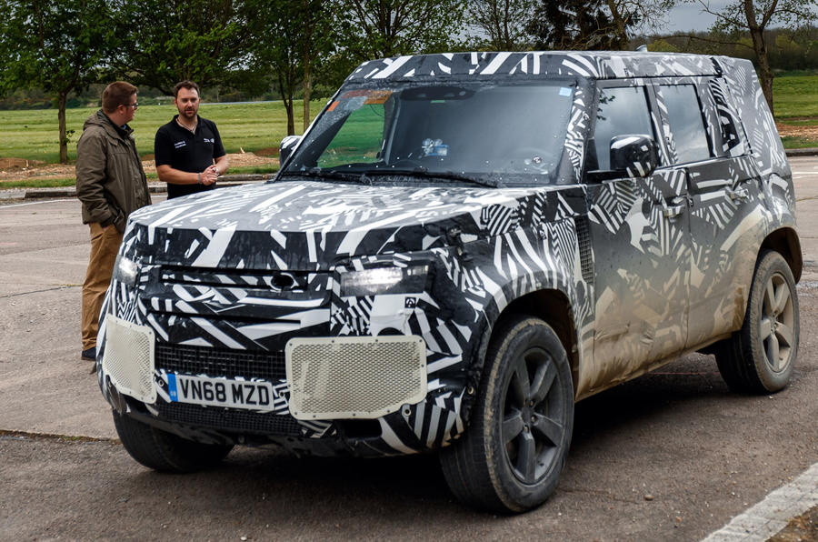 2020 Land Rover Defender prototype ride - Matt Saunders speaking front