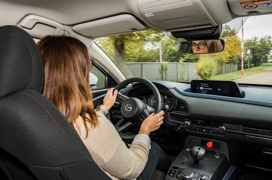 Mazda e-TPV prototype 2019 first drive review - Rachel Burgess driving