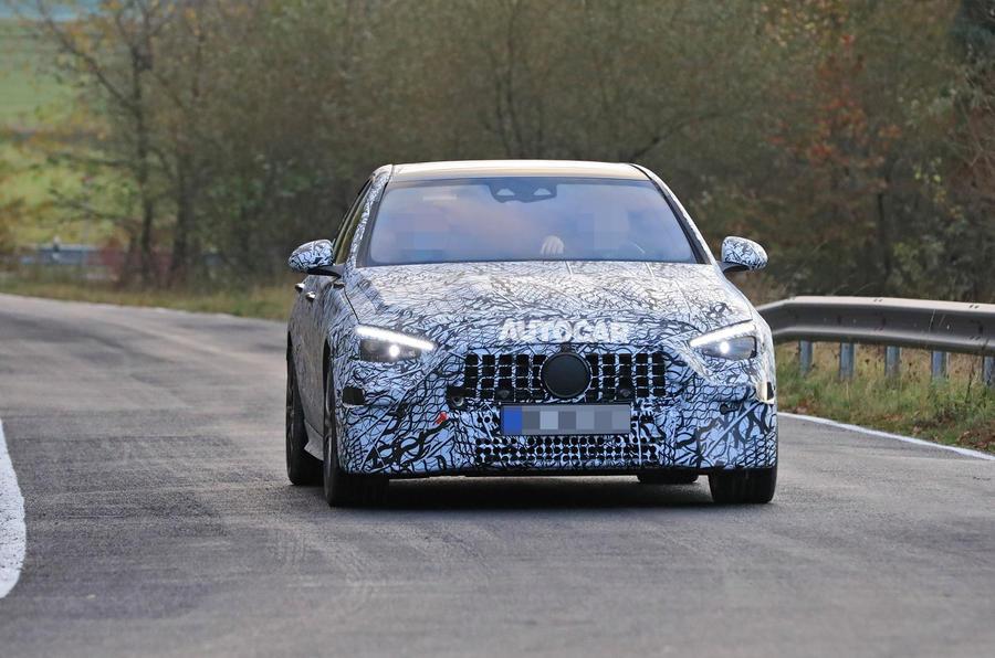 Mercedes-AMG C53 2021 spy images - tracking nose