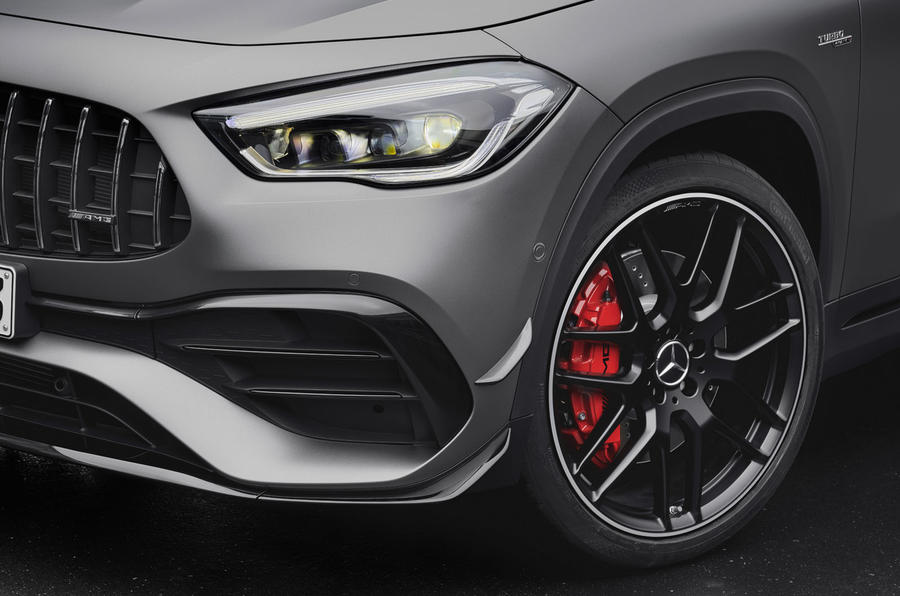 Mercedes-AMG GLA 45 S 2020 official press images - lights and alloys