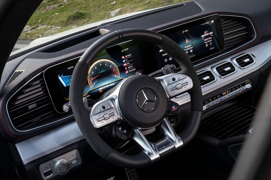 Mercedes-AMG GLE 53 prototype ride - dashboard