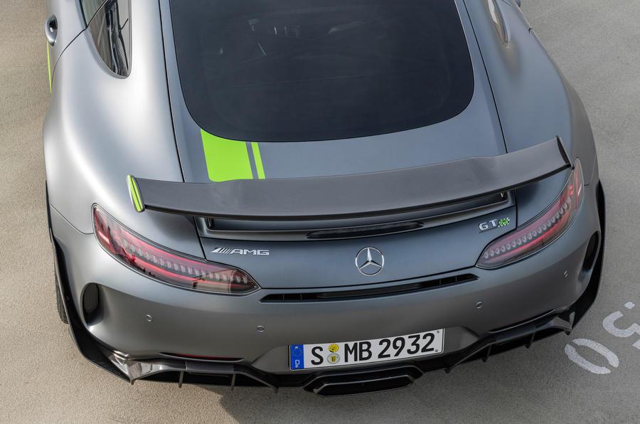 Mercedes-AMG GT R Pro 2018 LA motor show reveal - spoiler