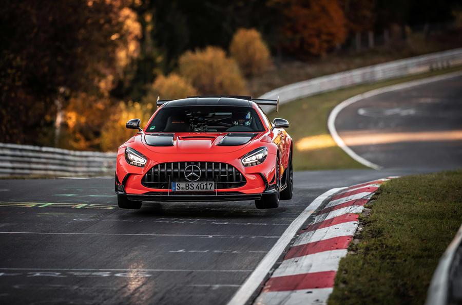 Mercedes-AMG GT Black Series Nurburgring record - jump