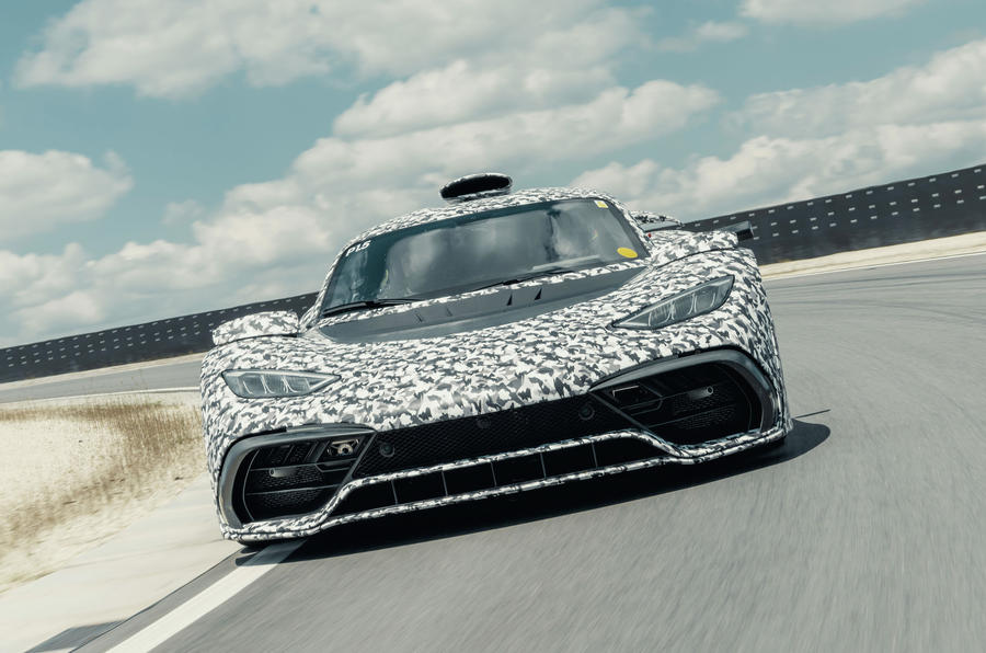 Mercedes-AMG One official camouflaged tracking images - nose