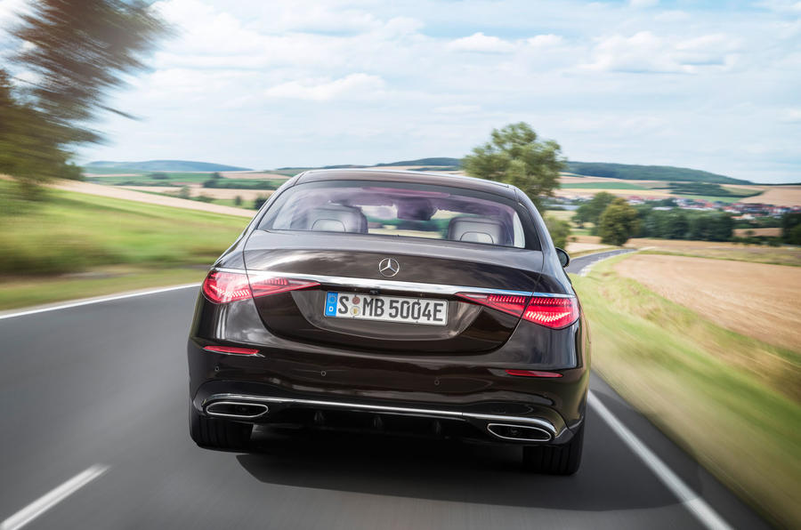 2021 Mercedes-Benz S-Class official reveal images - tracking rear end