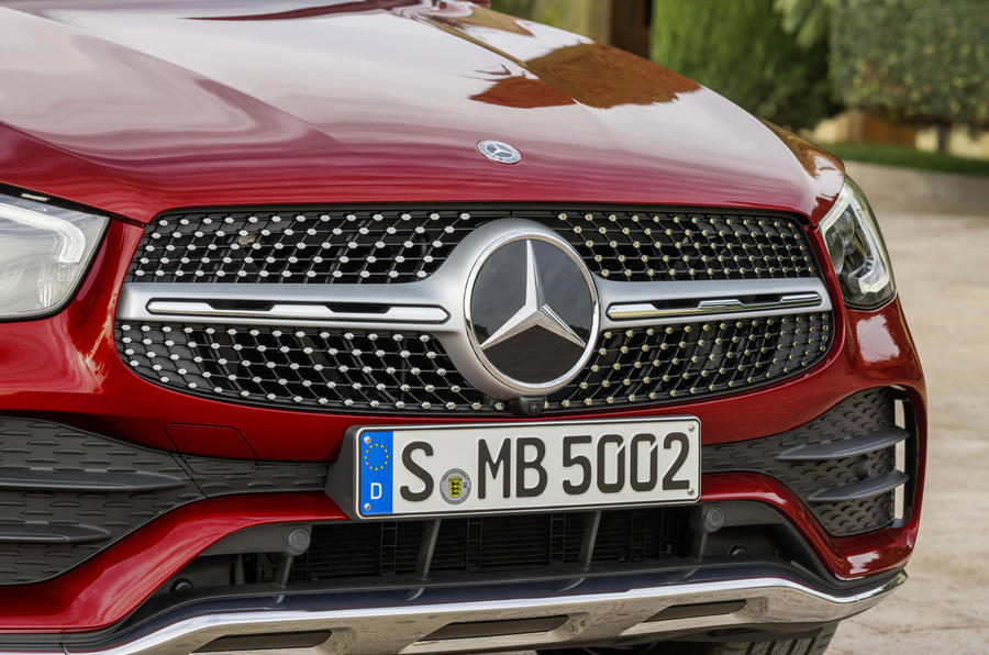 Mercedes GLC Coupe 2019 press - front bumper