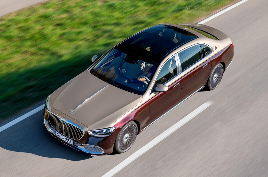 2021 Mercedes-Maybach S-Class official images - hero aerial
