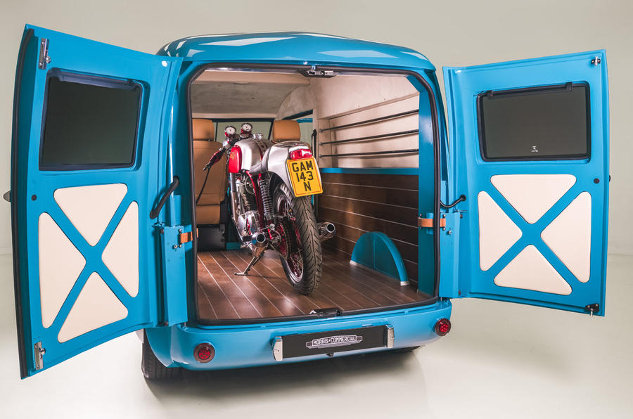 Morris JE electric van official images - load capacity
