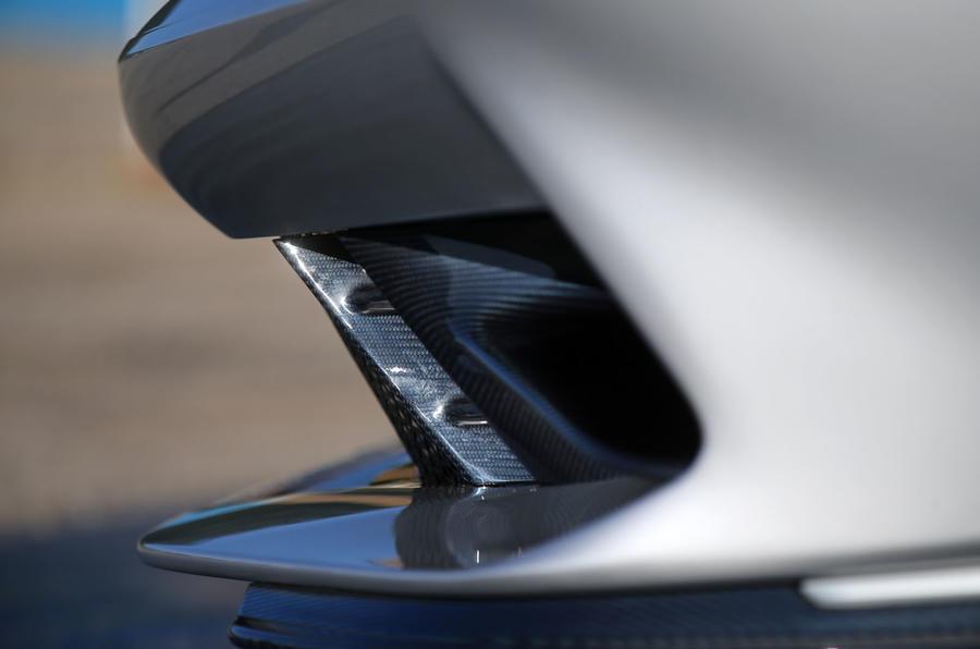 Pininfarina Battista customer preview event - front splitter