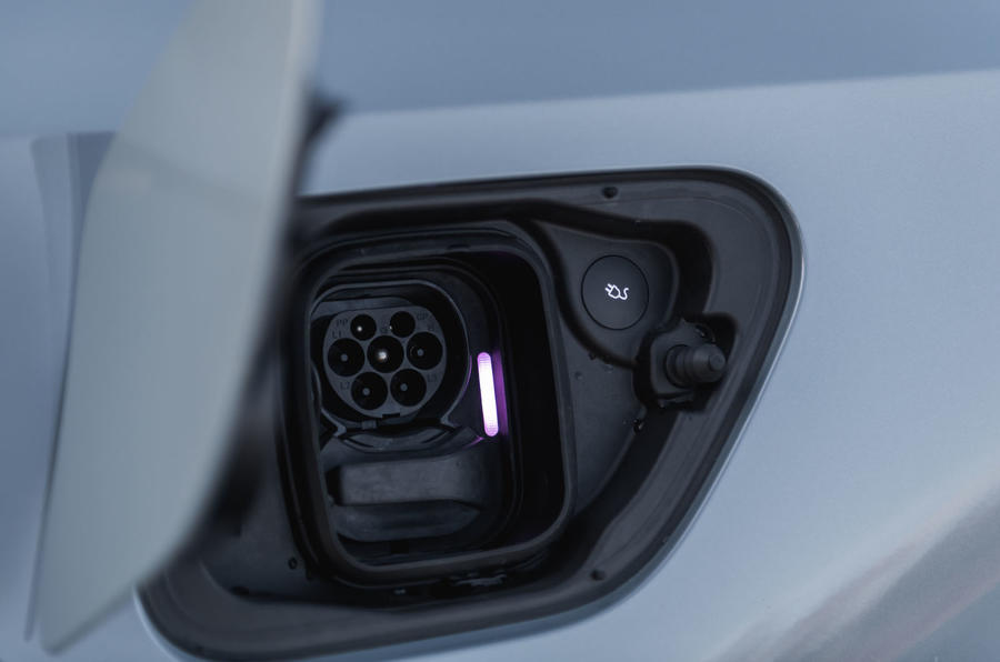 2020 Polestar 2 prototype drive - charging port