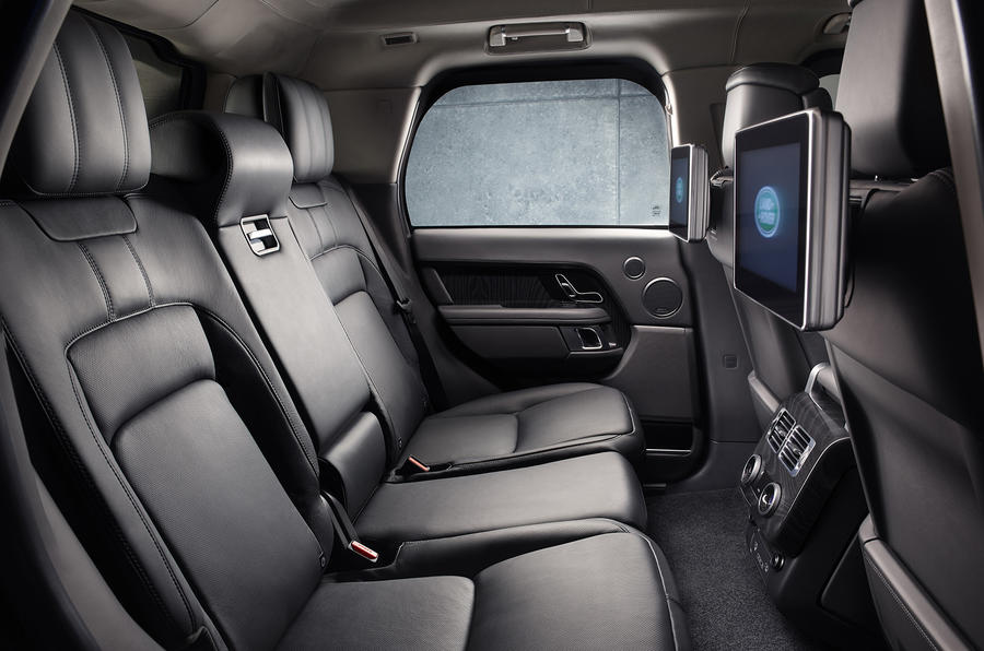 Land Rover Range Rover Sentinel official press images - rear seats