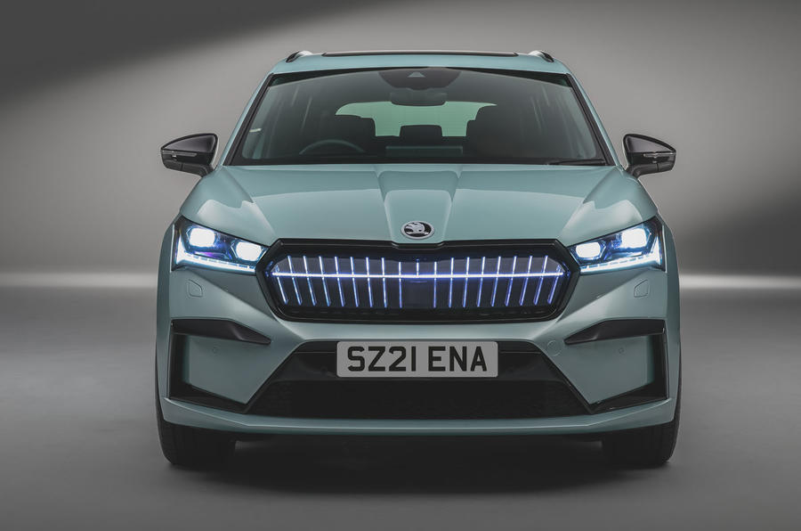 Skoda Enyaq official reveal images - studio nose