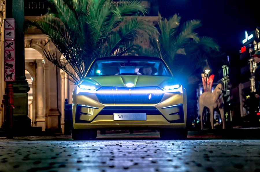 Skoda Vision iV prototype drive - headlights