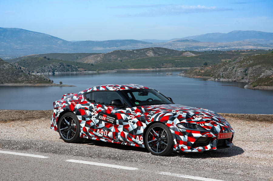 Toyota Supra 2019 prototype first drive review static front
