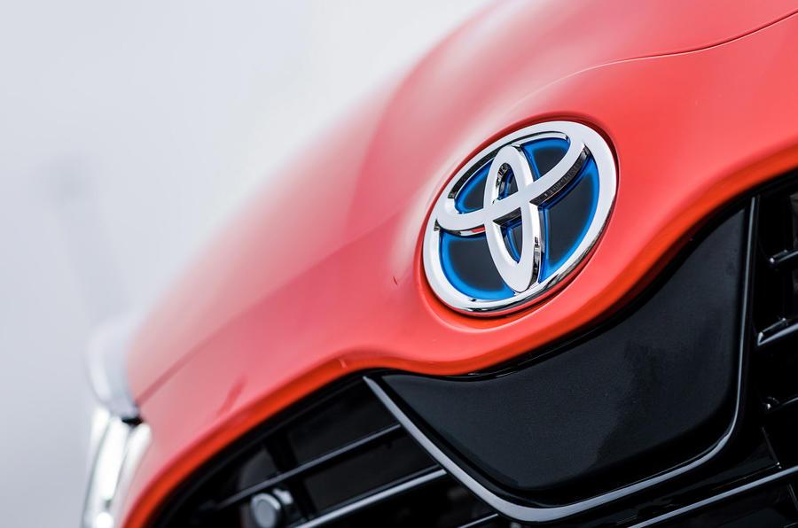 2020 Toyota Yaris prototype drive - nose badge