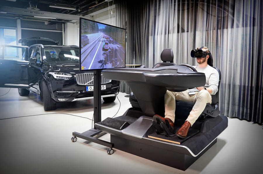 Volvo mixed reality simulator research - driving rig
