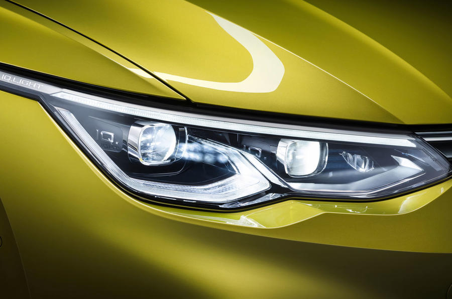 2020 Volkswagen Golf Mk8 official press - headlights
