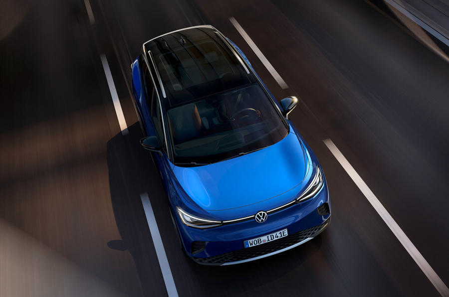VW ID 4 electric SUV - tracking front