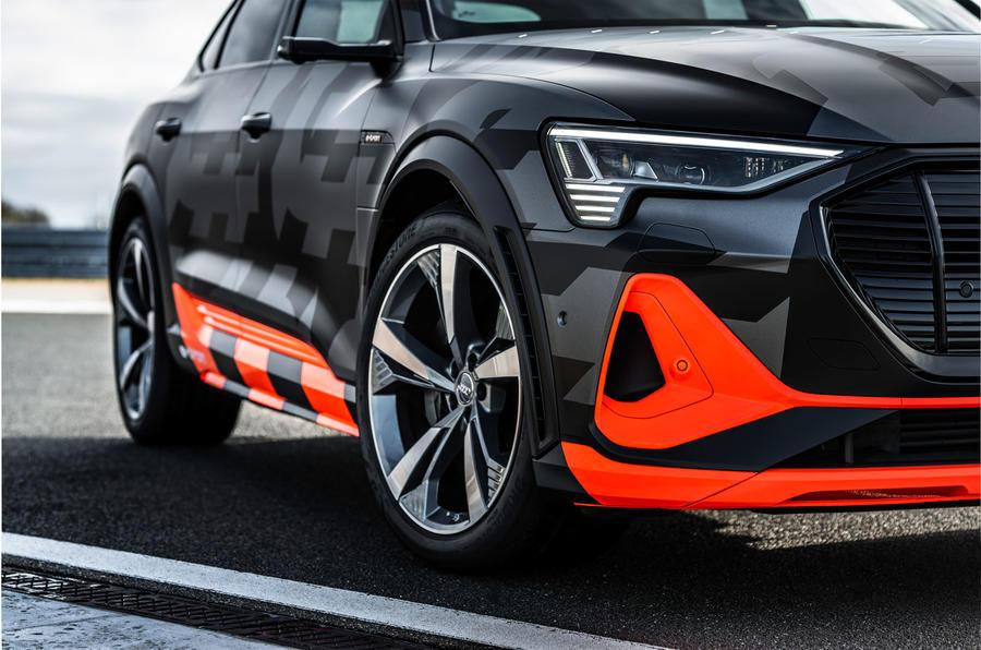 Audi E-tron S Sportback prototype drive - alloy wheels