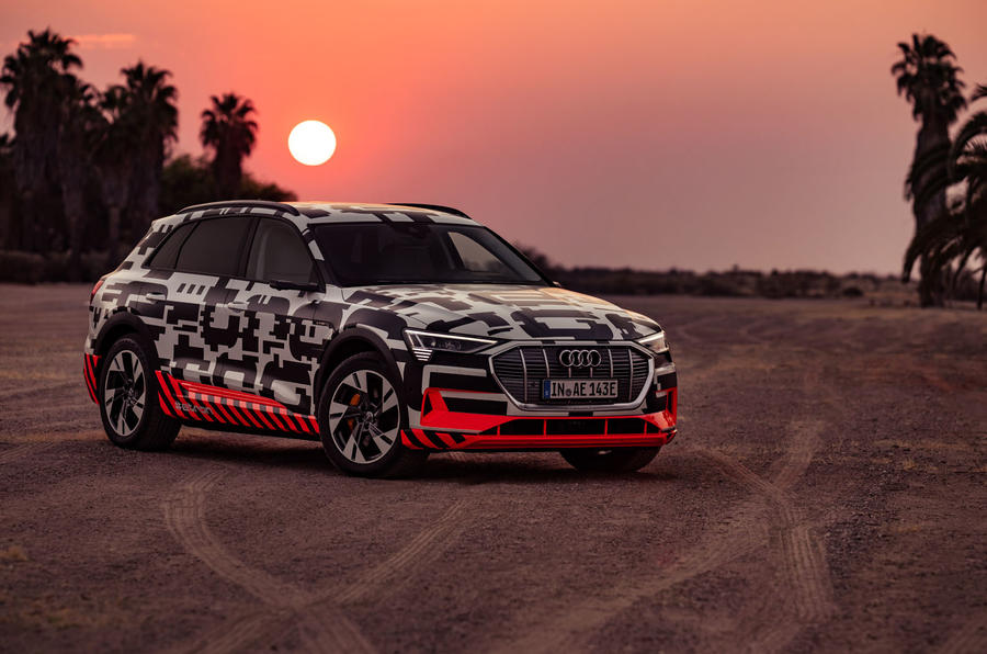 Audi e-Tron 2019 prototype first drive review - static front