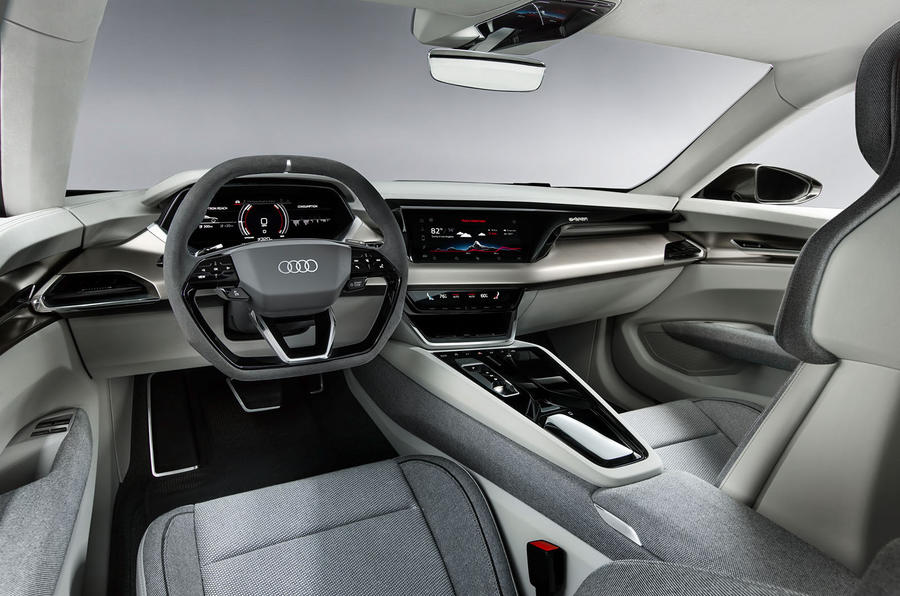 Audi E-tron GT concept official reveal - cabin interior