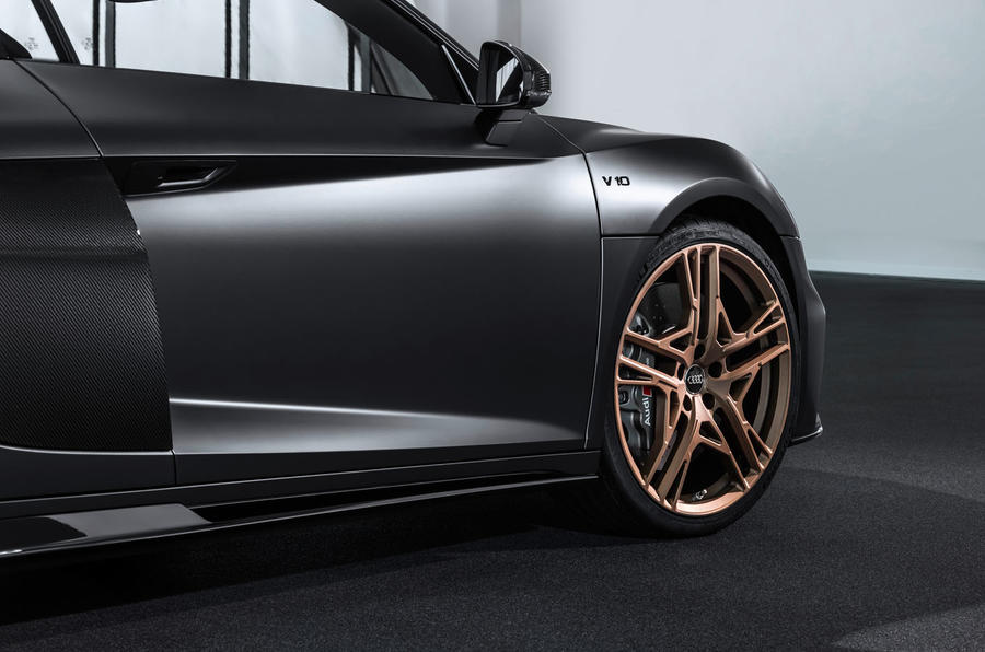 Audi R8 V10 Decennium official press images - alloy wheels