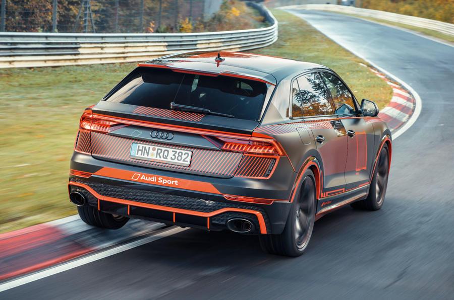 Audi RS Q8 2020 camo ride - hero rear