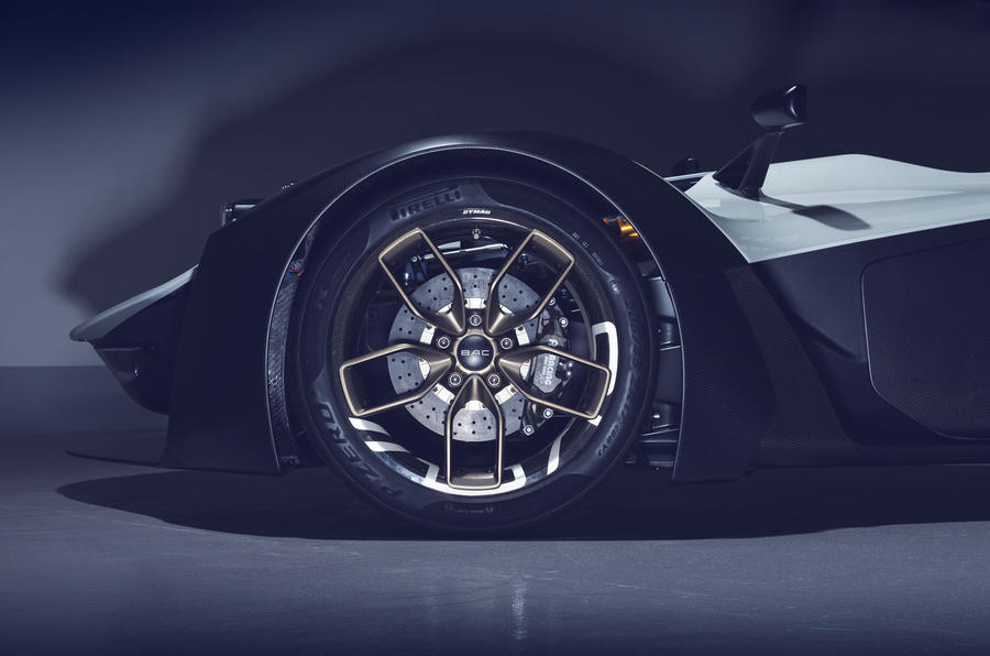 BAC Mono R carbonfibre feature - front wheel