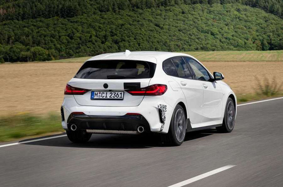 BMW 1 Series 128ti prototype 2020 first drive review - hero rear