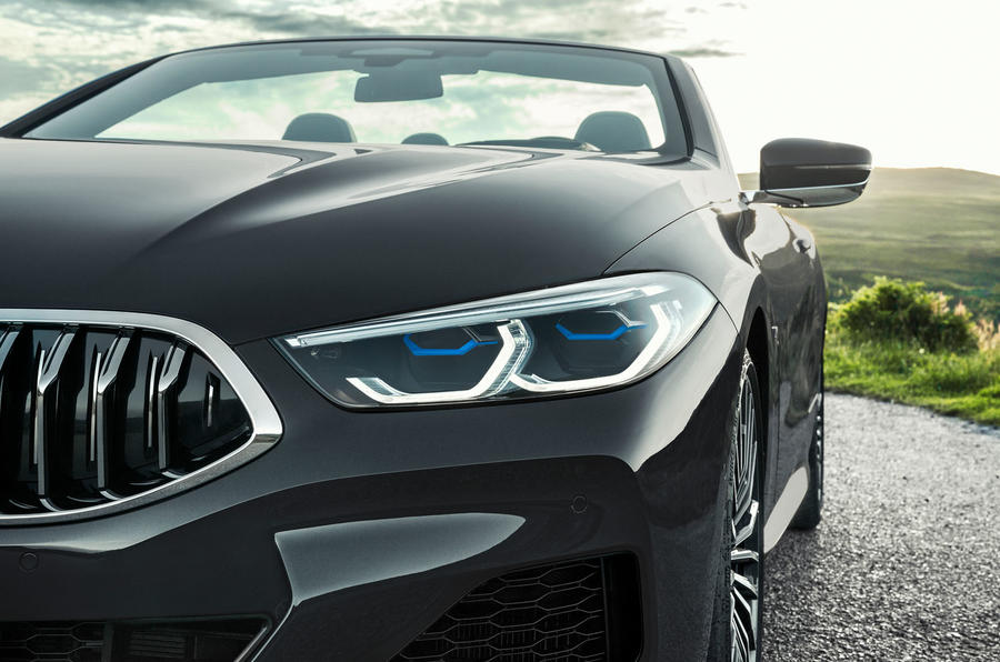 BMW 8 Series cabriolet 2018 official reveal - headlights