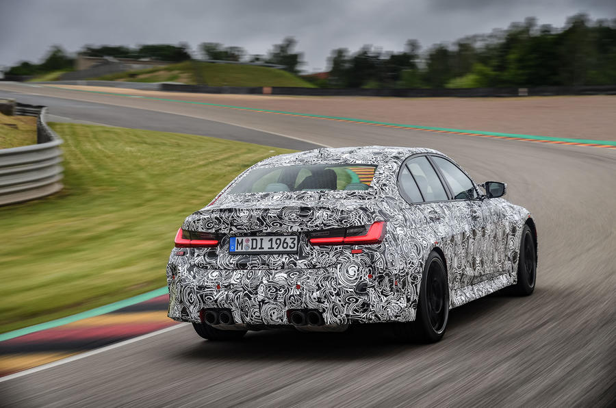2020 BMW M3 prototype first drive - hero rear