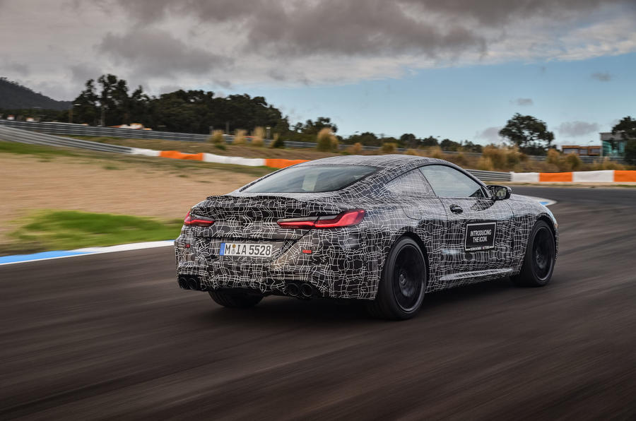 2019 BMW M8 prototype ride - hero rear