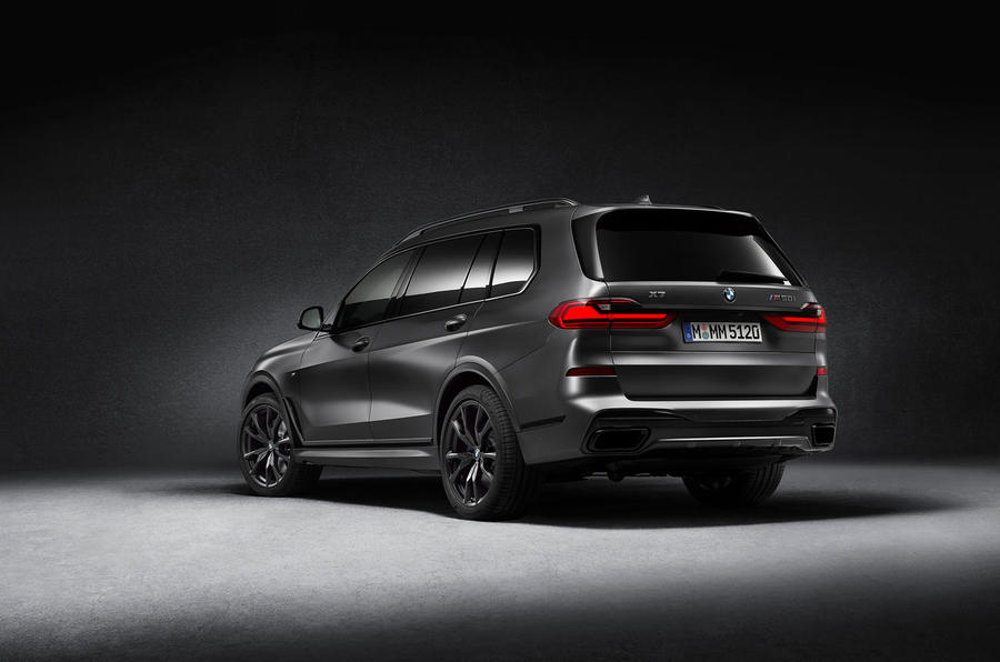 BMW X7 Dark Shadow Edition 2020 official images - rear
